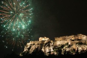 Greece-New-Year-Fireworks